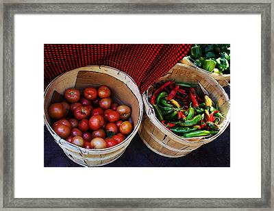 Going To Market Framed Print by Paulette Thomas