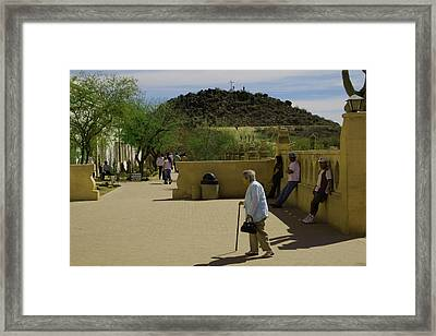 Framed Print featuring the photograph Going To Mass by Tom Singleton