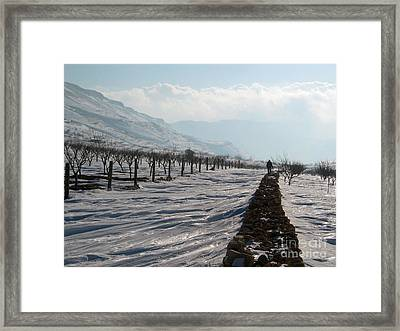 Going To Nowhere  Framed Print by Issam Hajjar