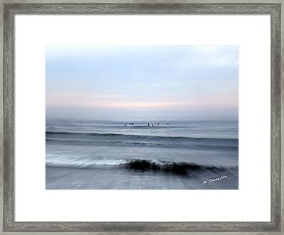 Going To The Wave Framed Print by Mily Iriarte
