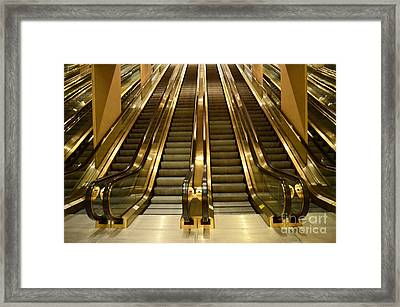 Going Up Or Going Down Framed Print