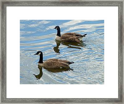 Framed Print featuring the photograph Going West by Louise Peardon