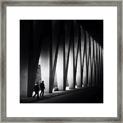 Going Zigzag Framed Print