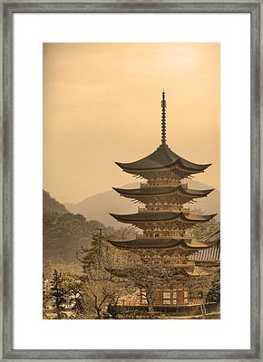 Goju-no-to Pagoda Framed Print by Karen Walzer
