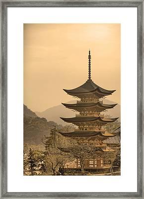 Goju-no-to Pagoda Framed Print by Karen Walzer