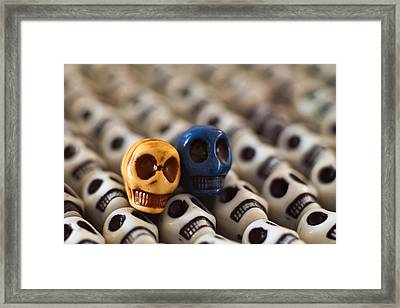 Gold And Blue Framed Print by Mike Herdering