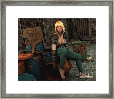 Gold And Rust Framed Print