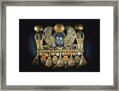 Gold And Semiprecious Stone Pendant Framed Print by Kenneth Garrett