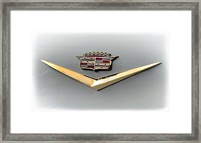 Gold Badge Cadillac Framed Print