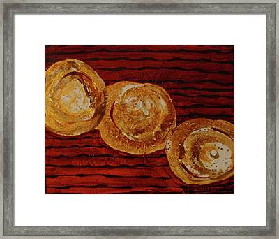 Gold Breasts Abstract Framed Print by Dede Shamel Davalos