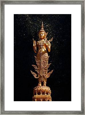 Gold Buddha  Framed Print by Bou Lemon