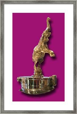 Gold Buggatti Mascot Framed Print by Jack Pumphrey
