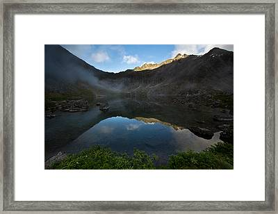 Gold Cord Lake Sunset Framed Print by Kelly Turnage