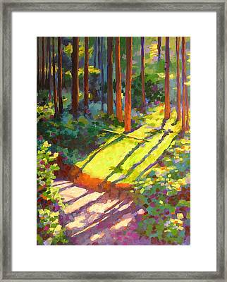 Gold Creek Trail Framed Print by Mary McInnis