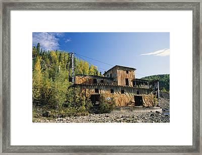 Gold Dredge No. 1 In Wade Creek, Built Framed Print by Rich Reid
