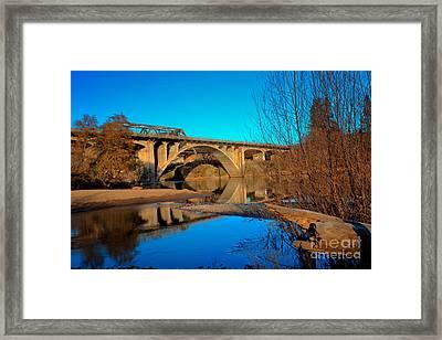 Gold Hill Bridges Framed Print by Jim Adams