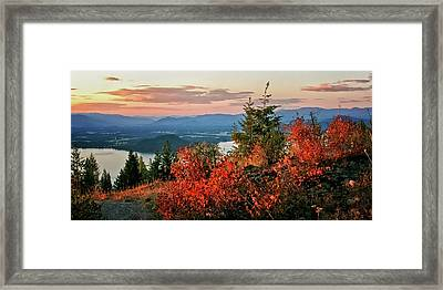 Framed Print featuring the photograph Gold Hill Sunset by Albert Seger