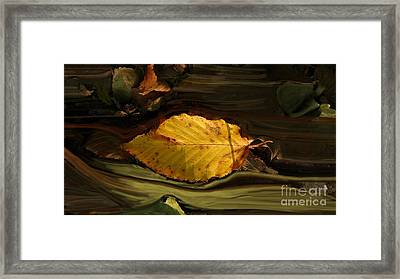 Gold Leaf Framed Print