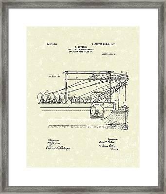 Gold Mining 1907 Patent Art Framed Print by Prior Art Design