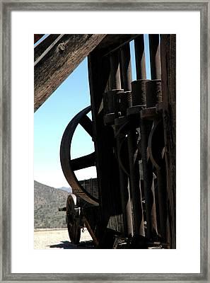 Gold Mining Stone Crusher Framed Print by LeeAnn McLaneGoetz McLaneGoetzStudioLLCcom