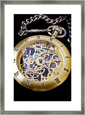 Gold Pocket Watch Framed Print