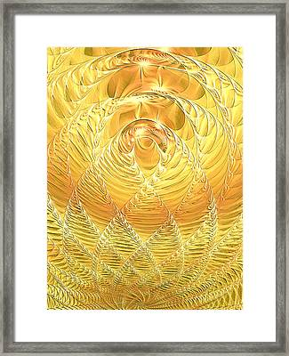 Framed Print featuring the digital art Gold Pressed Latinum by Lea Wiggins