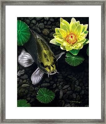 Framed Print featuring the painting Gold Rush by Dan Menta