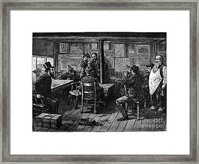 Gold Rush: Miners, 1887 Framed Print by Granger