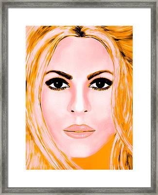 Gold Shakira Framed Print