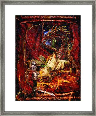 Framed Print featuring the painting Gold To Free The Queen by Steve Roberts