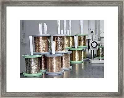Gold Wires For Jewellery Manufacture Framed Print by Ria Novosti
