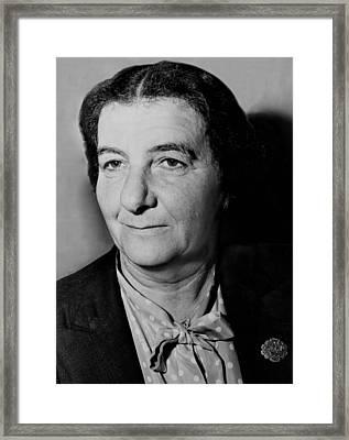 Golda Meir 1898-1978, In 1948 Framed Print by Everett