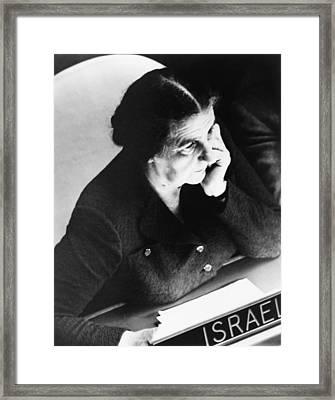Golda Meir, Israels Foreign Minister Framed Print by Everett
