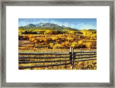 Golden Autumn Framed Print by Jeff Kolker