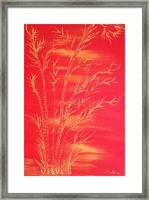 Golden Bamboo 2 Framed Print by Pretchill Smith
