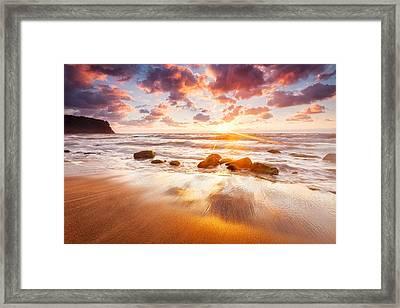 Golden Beach Framed Print by Evgeni Dinev