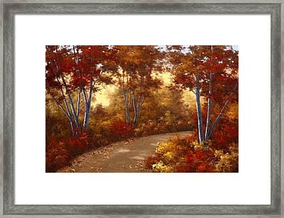 Golden Birch Framed Print by Diane Romanello