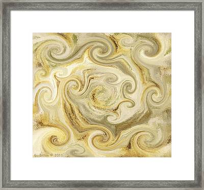 Golden Blend Framed Print