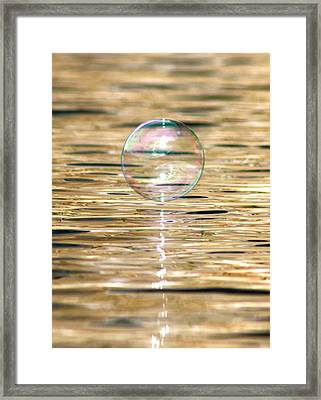 Golden Bubble Framed Print by Cathie Douglas