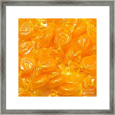 Golden Butterscotch Square Framed Print by Andee Design