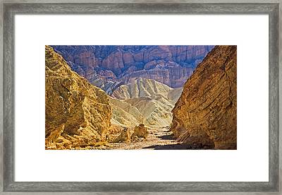 Golden Canyon At Death Valley Framed Print