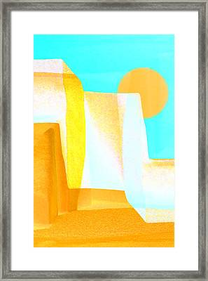 Golden Canyons Framed Print by Carol Leigh