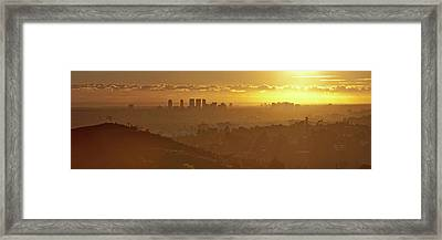 Golden City Framed Print by Eric Lo