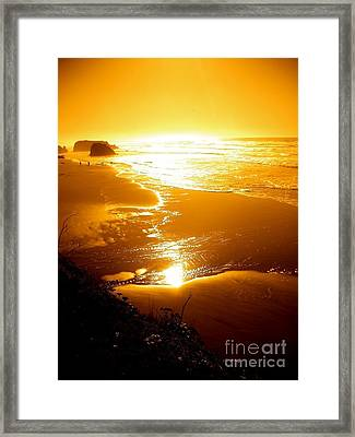 Golden Coast Framed Print by Jeremiah Hutchison
