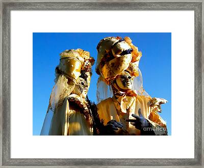 Golden Couple Of Venice Framed Print