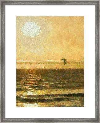 Golden Day Painterly Framed Print by Ernie Echols