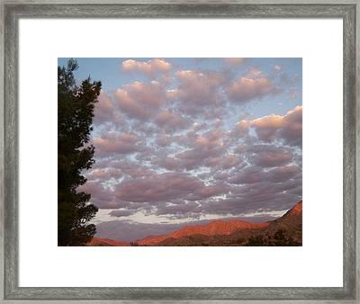 Framed Print featuring the photograph Golden Desert Sky by Christine Drake
