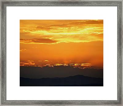Golden Evening Framed Print by Kevin Bone