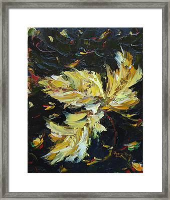 Framed Print featuring the painting Golden Flight by Judith Rhue