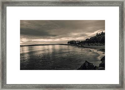 Golden Garden Beach Framed Print by Sarai Rachel